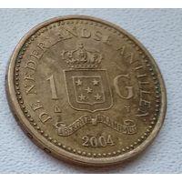 Нидерландские Антильские острова 1 гульден, 2004 !тир.-7100!  6-12-11