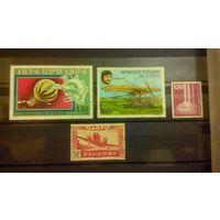 Марки, колонии, Дагомея, 1942, авиация, самолеты, Конго, Венгрия, Германия