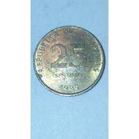 Филипины 25 сентимов 1995