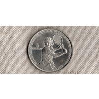 Ниуэ 5 долларов 1987 /Штефи Граф/тенис/(Va)