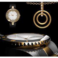 Часы женские и бижутерия, подарочный набор.