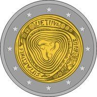 2 евро Литва 2019 Сутартинес (Литовские народные песни). Из ролла