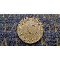 10 пфеннигов 1990 (G) Германия ФРГ #07