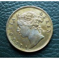 Стрейтс Сетлментс 20 центов 1894 (серебро) AUNS
