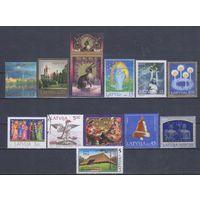 [252] Латвия. 12 гашеных марок.