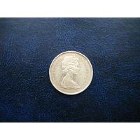 25 центов 1965г. Серебро.