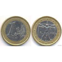 1 евро, Италия 2002 г.