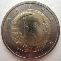 Португалия 2 евро 2017 г. 150 лет со дня рождения Рауля Брандао