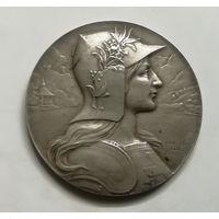 Медаль стрелкового фестиваля Швейцария Люцерн 1901г серебро 36гр