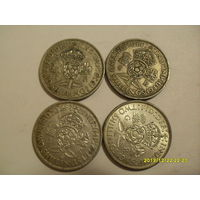 Англия , 2 шиллинга , серебро