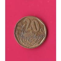 06-09 ЮАР, 20 центов 2004 г.