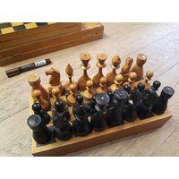 Шахматы советские, дерево. Резные, массивные. Комплект 3.