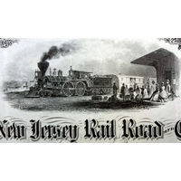 United New Jersey Railroad & Canal Company Stock Certificate, 1901 год