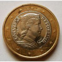 1 евро 2016 Латвия