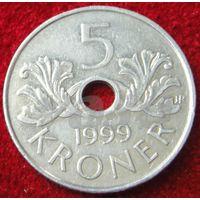 7664:  5 крон 1999 Норвегия