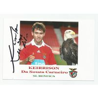 Da Souza Carneiro Keirrison(Benfica, Португалия). Живой автограф на фотографии.