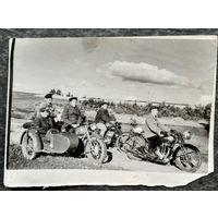 """""""Байкеры"""" пятидесятых. Фото 1950-х. 9.5х13 см"""