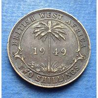 Британская Западная Африка колония 2 шиллинга 1949 Георг VI