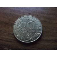 Франция 20 сантим 1993