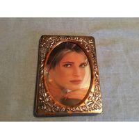 Рамка для фото винтажная 15 см х 10 см Серебряное покрытие Германия