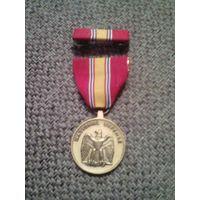 Медаль США за службу национальной обороны.с планкой.отл.состояние.