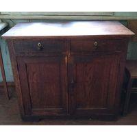 Стол кухонный старинный дубовый