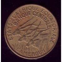 10 Франков 1972 год Экваториальные Африканские Штаты Камерун