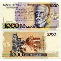 Бразилия. 1000 крузадо (образца 1988 года, P213b, UNC)