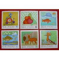 Польша. Флора и фауна ( 6 марок ) 1982 года.