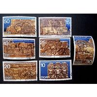 ГДР 1970 г. Археологические артефакты Судана. Античная Культура, Искусство, полная серия из 7 марок #0035-И1P8
