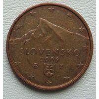 Словакия 2 евроцента 2009