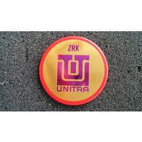 Значок польского предприятия ZRK Unitra. Стилизованный компьютерный чип
