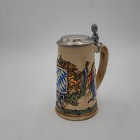 Пивная кружка  бокал, с крышкой 7