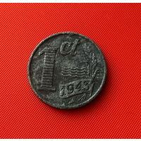 27-26 Нидерланды, 1 цент 1943 г.