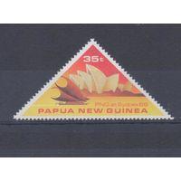 [713] Папуа Новая-Гвинея 1988. Корабль.Парусник. Одиночный выпуск.