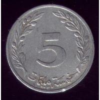 5 миллимов 1960 год Тунис