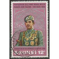 Бруней. Коронация султана Хассанала Болкиаха. 1968г. Mi#134.