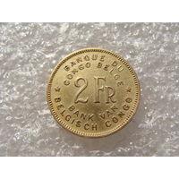 Бельгийское Конго 2 ФРАНКА 1947 год KM#28