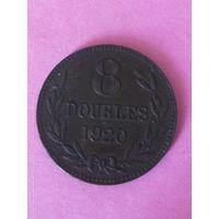 Гернси 8 дублей 1920г  157.000