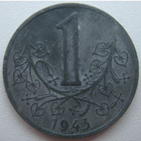 Богемия и Моравия 1 крона 1943 г. Протекторат Германии