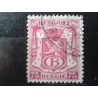 Бельгия 1946 Герб страны, служебная марка
