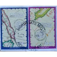 Остров Рождества 1991\841\ карты  гаш. 4мi