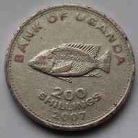 Уганда, 200 шиллингов 2007 г