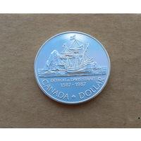 Канада, доллар 1987 г., пролив Дэвиса, серебро