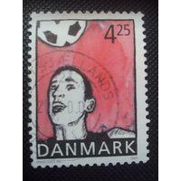 Дания. Футбол. 2003г. гашеная