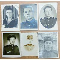 Фото военных 6 шт, 50-60 годы. БЕСПЛАТНАЯ ДОСТАВКА