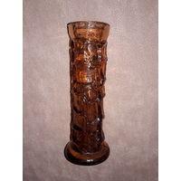 Эффектная ваза из толстого стекла (СССР)