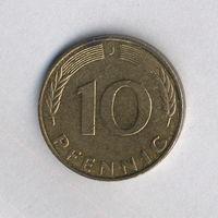 Федеративная Республика Германия, 10 пфеннигов 1990 г.