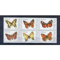 Бабочки на марках  Польши