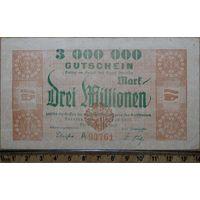 3 миллиона марок 1923г. Дрезден